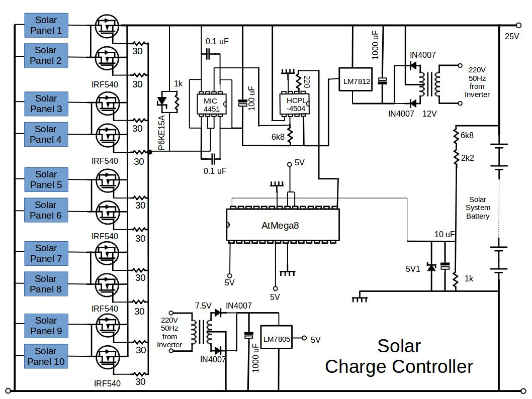 Solar Panel Charge Controller Circuit Diagram Trusted Wiring Diagrams Schematic Enthusiast U2022 Charger Regulator