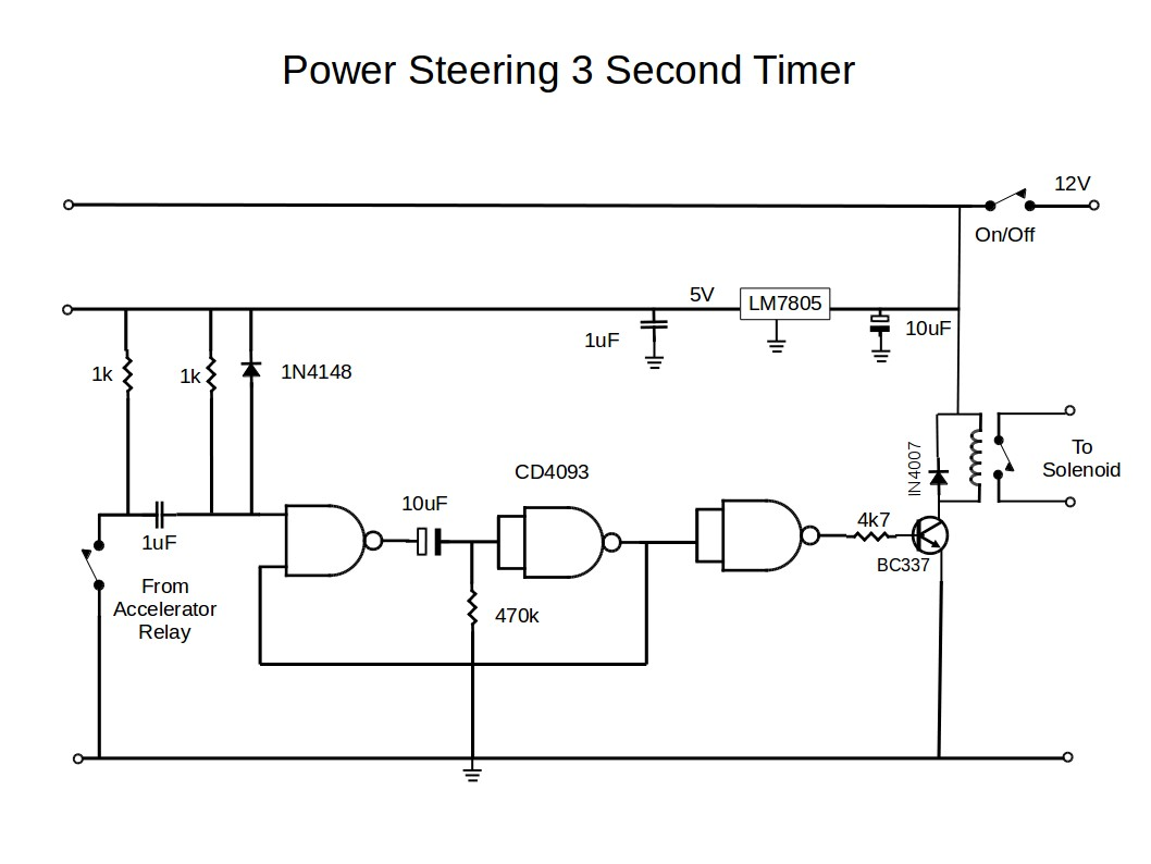 Power Steering Timer Circuit
