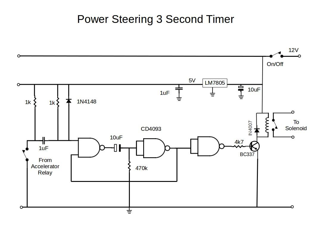 Power Steering Timer Circuit