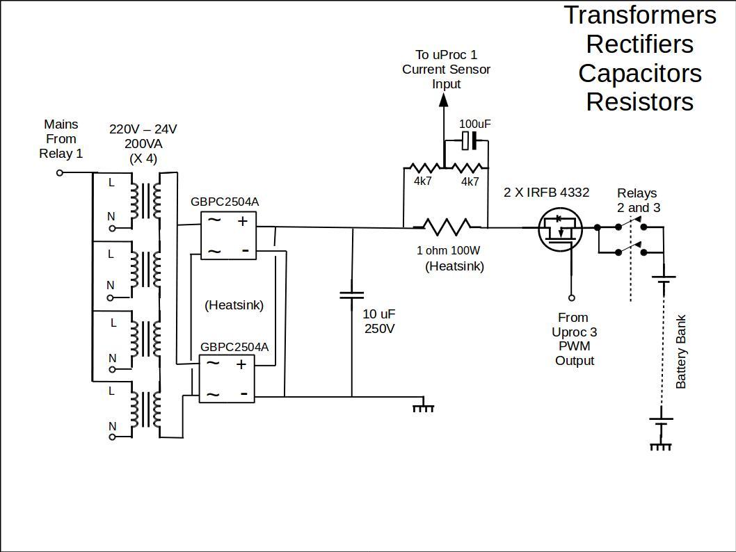 transformers-rectifiers-capacitors-resistors